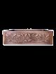 Petal Design Copper Undermount Kitchen Sink - Single Bowl 16-Gauge Basin - Perfect For Home, Hotel, Farmhouse - Dimensions 33″ X 22″ X 9″